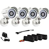 Zmodo Surveillance ZMD-P4-YARUZ4ZN-N 1/4inch CMOS 700TVL Day Night Weatherproof Outdoor Camera Retail