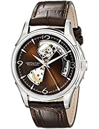 Men's H32565595 Open Heart Marron Open Dial Watch