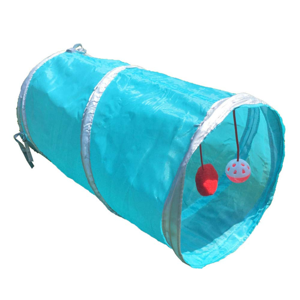 bluee Pet Toys Cat Toys Cat Tunnel Cat Channel Suitable Cats Dogs to Play (color   bluee)