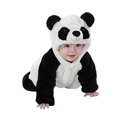 rivenditore all'ingrosso 3992a 274f0 Katara 1778 Costume Panda Neonati Bambini Tuta Kigurumi Animale Pigiama  Intero con Cappuccio Bambino 18-24 Mesi