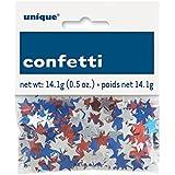 Foil Red, White, and Blue Star Confetti