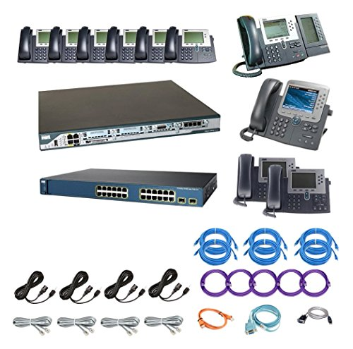 VoIP PBX Express The_Ten_Plug_and_Play Cisco 10 Premium IP Phone System with Auto Attendant and Voicemail, FXO/SIP/PRI