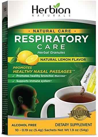 Herbion Naturals Respiratory Care Lemon, Pack of 3