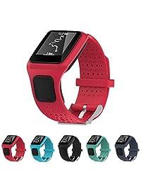 StrapsCo Silicone Watch Band Strap for TomTom Runner