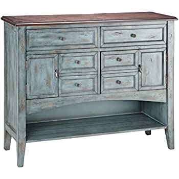 Superieur Stein World Furniture Hartford Buffet/Server, Distressed Moonstone Antique  Blue/Wood Tone