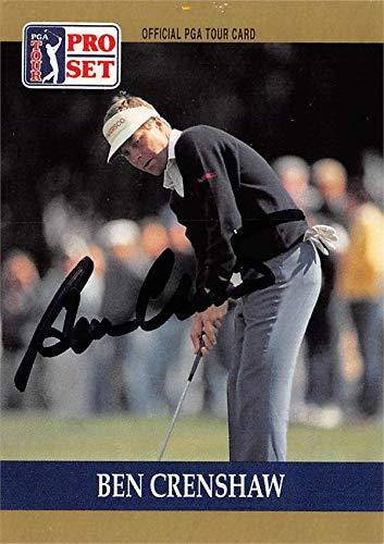 Card Golf Set Pro (Ben Crenshaw autographed trading card (Golf, PGA Tour, Texas Longhorns, SC) 1990 Pro Set #73)
