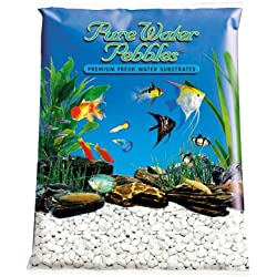 Pure Water Pebbles Aquarium Gravel, 25-Pound, Platinum White Frost