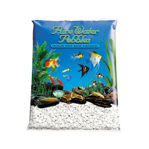 Pure Water Pebbles Aquarium Gravel, 25-Pound, Platinum White Frost by Pure Water Pebbles