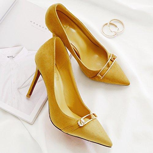 con tacchi solo scarpe centimetri ha ragazza la wild nove raccontare per sottolineato giallo 39 scarpe i alti in estate scarpe bella donna Choo nero ZAtwt