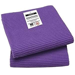 Now Designs Ripple Kitchen Towel Set Of 2 Prince Purple Home Kitchen