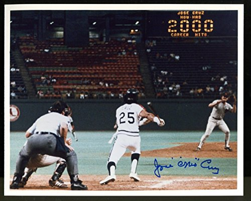 Jose Cruz Signed Photo 8x10 Autographed & 2000 Hit Full Ticket Astros - Ups Tracking Priority Mail