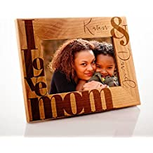 Lily's Atelier Personalized, Mother's Day, Horizontal and Vertical Wooden Picture Photo Frame, Mothers Day, 4x6 | 5x7 | 8x10