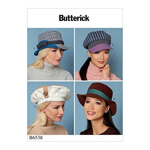 Butterick Patterns B6538OSZ Misses' Hats