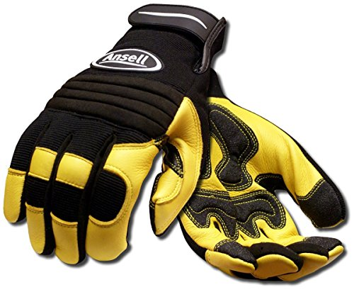 Ansell ProjeX 97-977 Heavy Duty Leather Work Glove, Medium (Pack of 1 Pair)