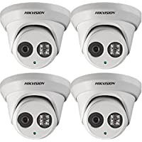 Hikvision DS-2CD2342WD-I 4MP EXIR Network Turret IP Camera Security Surveillance Camera 2.8mm Lens Day/Night 1080P English Version Unlimited Upgrade Firmware(4 pieces)