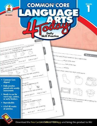 Amazon.com: Common Core Language Arts 4 Today, Grade 1: Daily ...