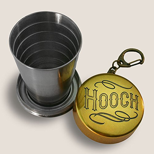 Vintage Shot Glass - Hooch Portable Shot Glass Drinking Collapsable Cup by Trixie & Milo comes in a gift box vintage style