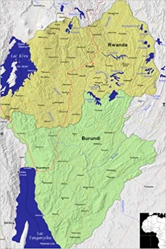 Modern Day Color Map Of Rwanda And Burundi In Africa Journal Take