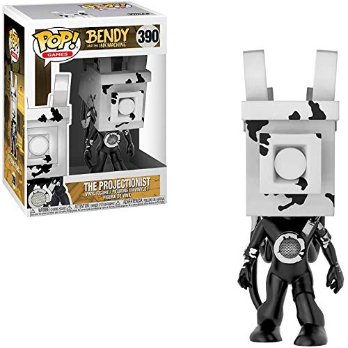 (Funko The Projectionist: Bendy and The Ink Machine x POP! Games Figure & 1 PET Plastic Graphical Protector Bundle [#390 / 30622 - B])
