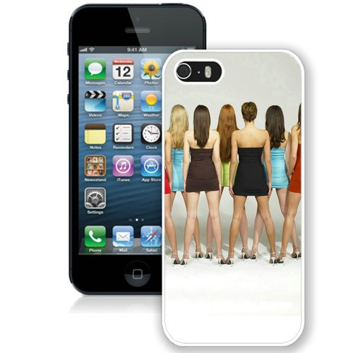 Coque,Fashion Coque iphone 5S Brunettes Blondes Women Back blanc Screen Cover Case Cover Fashion and Hot Sale Design
