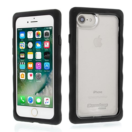 Gumdrop Cases DropTech for Apple iPhone 8 (2017) A1863, A1905 and iPhone 7 (2016) A1660, A1778 Rugged Phone Case Shock Absorbing Cover, Black / - Case Hard Smoke Snap