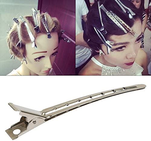 50 x Metal Non-Slip Hair Sectioning Spring Clips ideal for blow drying /& curls