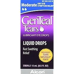 GENTEALTears Lubricant Eye Drops, Moderate Liquid Drops, 15-mL