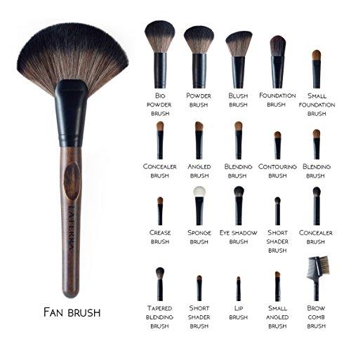 LA FERRA   Professional Makeup Brush Set   Cosmetic Make Up Brushes   Beauty Blender   Cleaning Mat   Travel Holder Organizer Case   Best Gift for Girl   Full Face and Eye Kit   21 Pcs