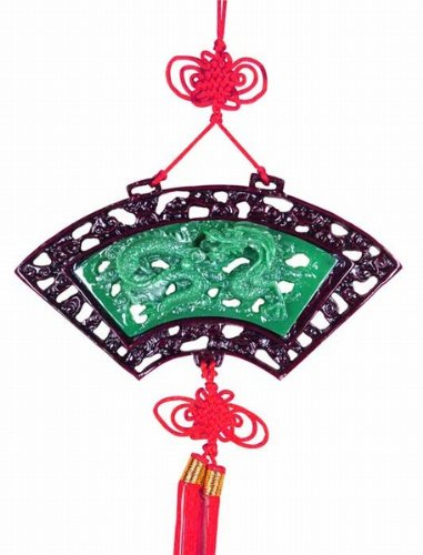 Chinese Knotting Wall Plaque Fan Shape Dragon (Plaque Wall Chinese)