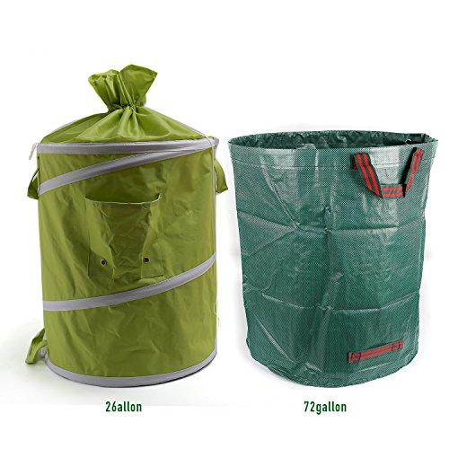 [해외]Ipomelo Gallon 여분 72 갤런 재사용 마당 잔디밭 정원 잎 폐기물 부대를 가진 원예 부대를 팝업하십시오/Ipomelo Gallon Pop Up Gardening Bag with Extra 72 Gallon Reusable Yard Lawn Garden Leaf Waste Bag