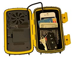 Eco Extreme 3.5mm Aux Waterproof Portable Speaker Case (Yellow)