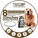 FRETOD Collares Antiparasitario para Perros y Gatos – 65cm Collares Antipulgas y Garrapatas para Perros Pequeño