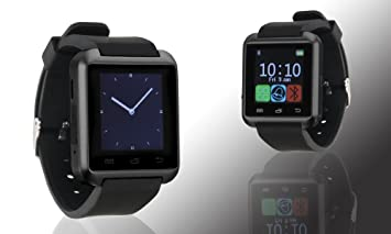 Bas – Tek Montre bracelet connectée Bluetooth avec écran tactile, compatible avec iPhone et Android