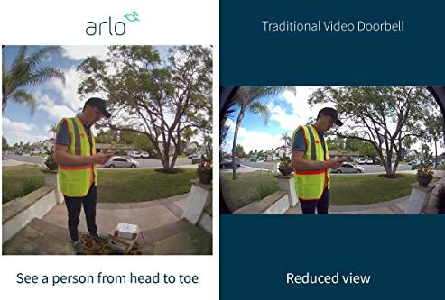 Arlo Video Doorbell | HD Video Quality, 2-Way Audio, Package Detection | Motion Detection and Alerts | Built-in Siren | Night Vision | Easy Installation (Existing Doorbell Wiring Required) | (AVD1001) 51cl4gvIEGL