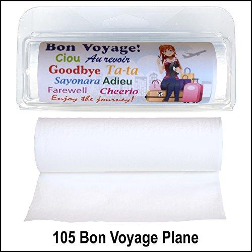 Gotta Tinkle! Mini Travel Size Toilet Paper Roll (105 Bon Voyage Plane Brunette) (Stream Paper Toilet)