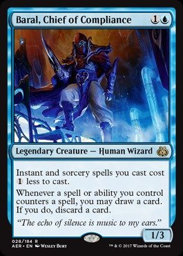 Magic: the Gathering - Baral, Chief of Compliance (028/184) - Aether Revolt - Foil (Best Cards In Aether Revolt)