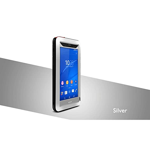 super popular 00898 86520 LOVE MEI Cover for Sony Xperia Z3, Waterproof Shockproof Aluminum Metal  Case with Gorilla Glass Screen Protector Silver