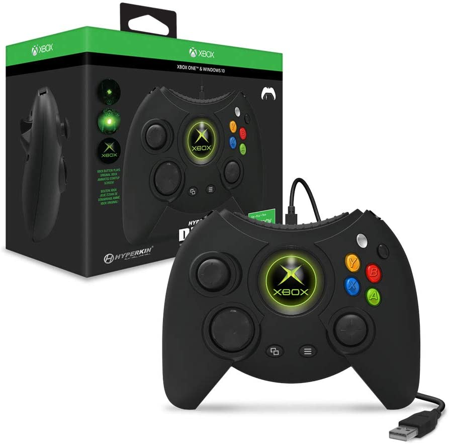 Amazon.com: Hyperkin Duke Wired Controller for Xbox One/ Windows 10 PC  (Black) - Officially Licensed by Xbox: Video Games