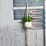 Best Garden Tools Vintage Macrame Wall Hanging Plant Hanger Rope Flowerpot Holder Handmade String Jute Rope Garden Decoration