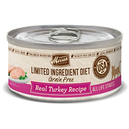 Merrick Limited Ingredient Diet Grain Free Turkey Canned Cat Food, 5 Oz., Case Of 24 (Best Wet Cat Food For Ibd)