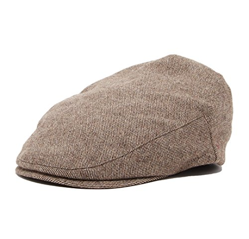Scally Flat (Born to Love Flat Scally Cap - Boy's Tweed Page Boy Newsboy Baby Kids Driver Cap Hat (SM 52 cm Brown tan))