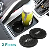 Auto Sport 2.75 Inch Diameter Oval Tough Car Logo Vehicle Travel Auto Cup Holder Insert Coaster Can 2 Pcs Pack Fit Po-rsche Accessory: more info