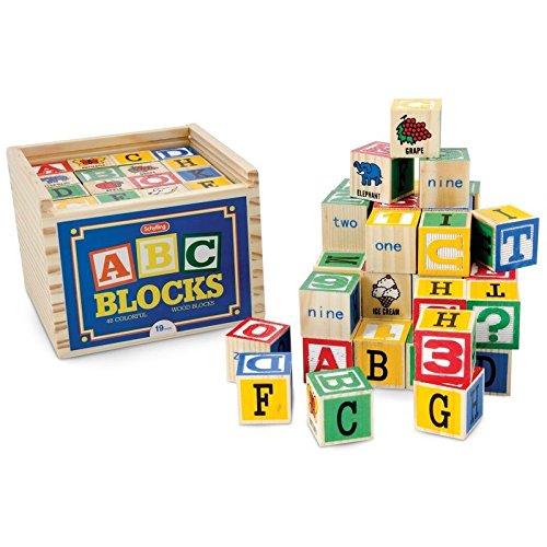 Schylling ABC Wooden Alphabet Blocks Toy