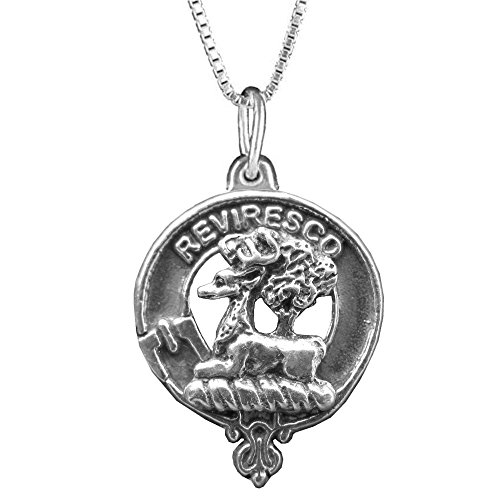 Maxwell Scottish Clan Crest Pendant - Sterling Silver (Crest Pendant Sterling Silver Jewelry)