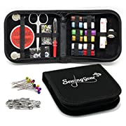 Amazon #LightningDeal 55% claimed: Compact Sewing Kit for Home, Travel, Camping & Emergency Gift for Kids, Girls, Beginners & Adults | Best Premium Sew Supplies Set | Expansive Case with 100 Extra Pins & Safety Pins