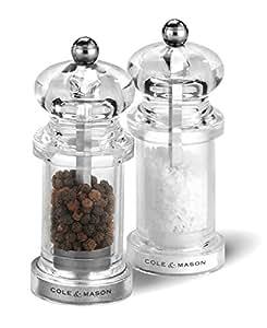 Cole & Mason Precision 575 - Juego de molinillos acrílicos de sal y pimienta (10,5 cm)
