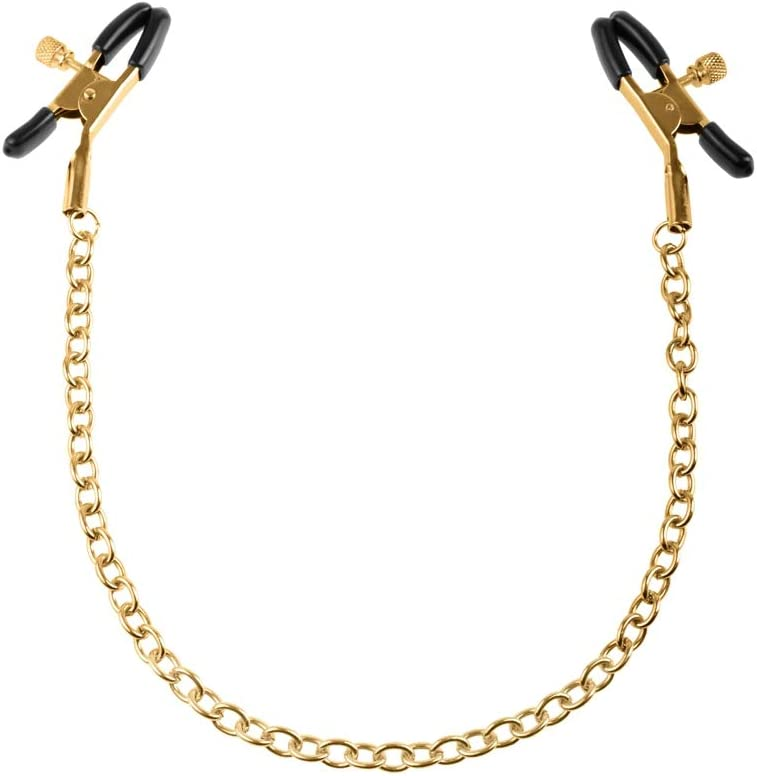 Fetish Fantasy Gold Nipple Chain Clamp