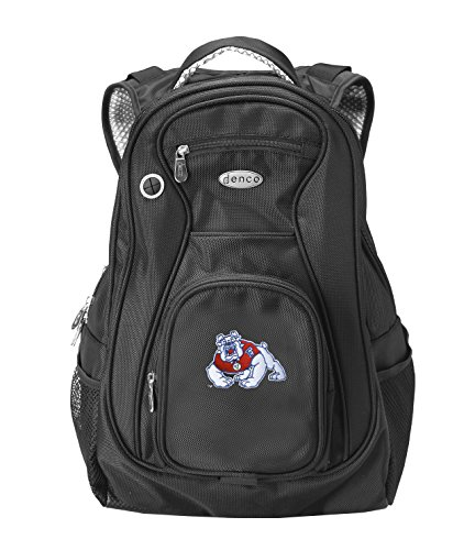 NCAA Fresno State Bulldogs Travel Backpack, 19-Inch, Black