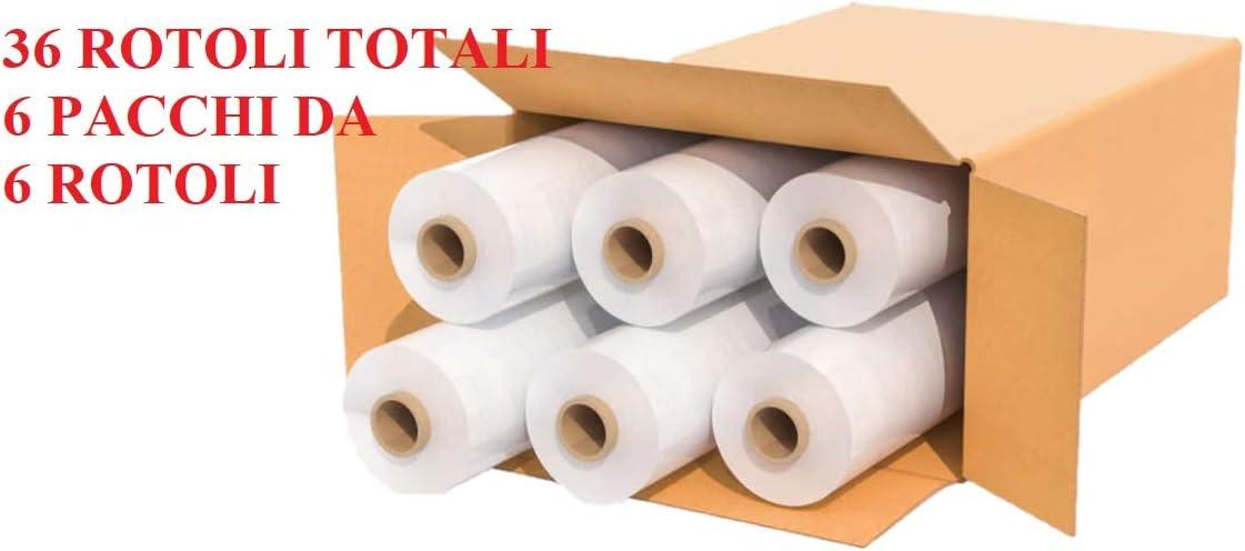 12 50cm x 160mt - Trasparente IMBALLAGGI 2000-12 pz Pellicola Estensibile Manuale Film Estensibile Fascia per Pallet e Imballaggio