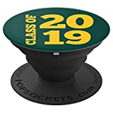 Class of 2019 PopSocket in Green and Gold Senior Graduation - PopSockets Grip and Stand for Phones and Tablets